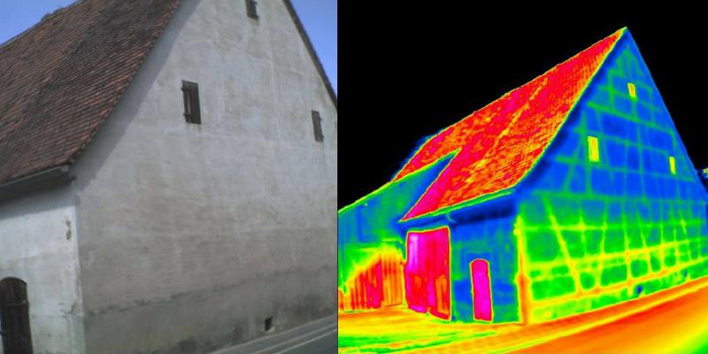 Aussenaufnahme Dämmung Wärmekamera