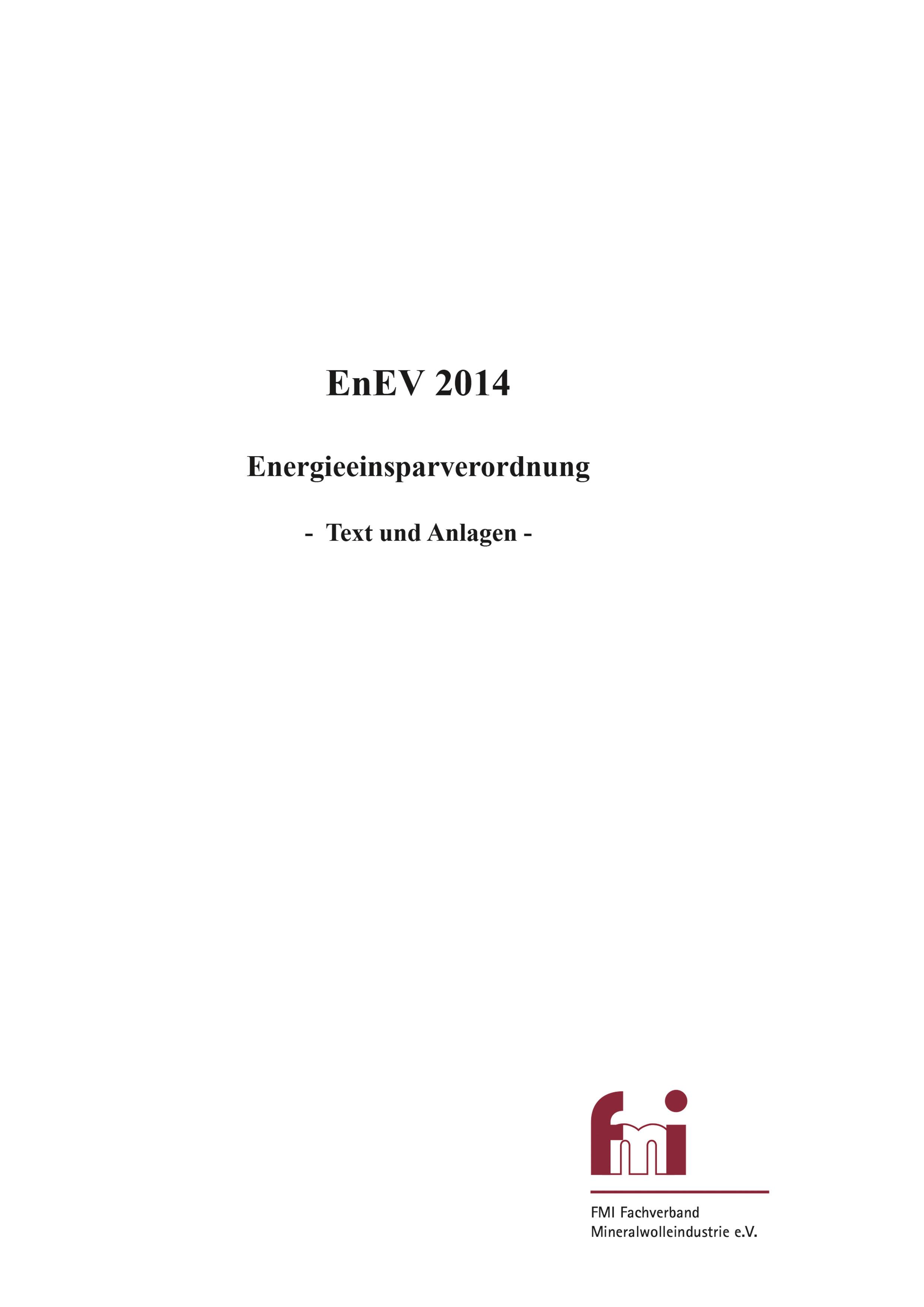 Broschüre | EnEV 2014