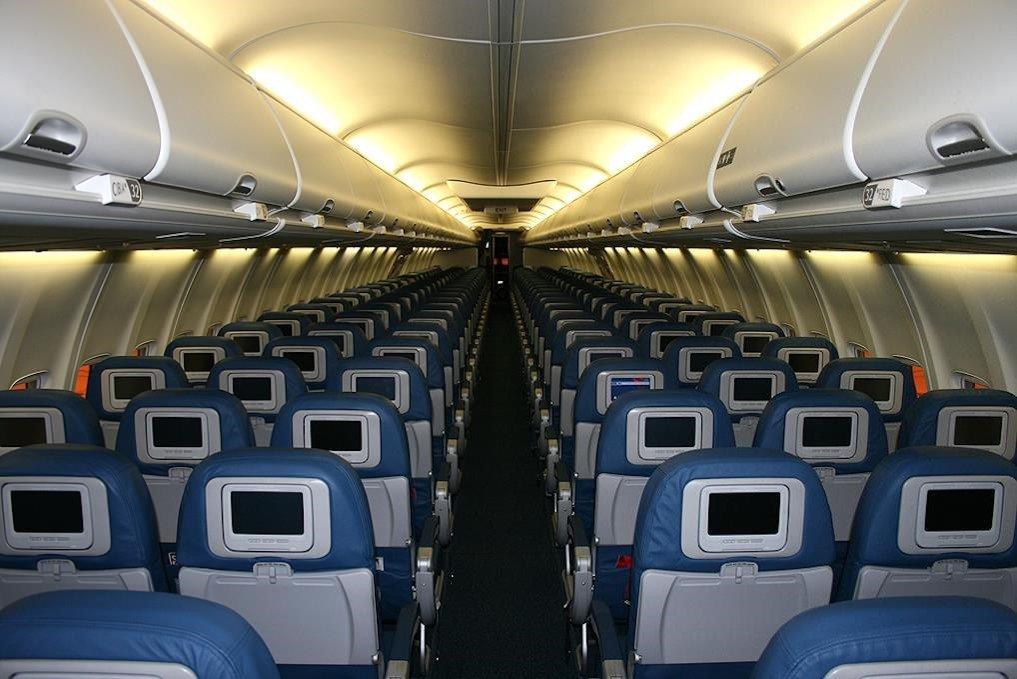 Die Flugzeugkabine ist mit Mineralwolle geschützt.