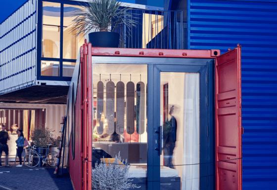 Containerwohnungen: Seefrachtcontainer als neuer Wohn- und Arbeitsraum.