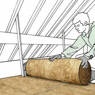 Bei nicht begehbaren Dachgeschossen wird der Boden mit flexiblen Dämmstoffen aus Glaswolle oder Steinwolle ausgelegt.