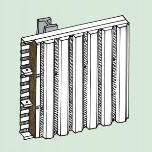 Bei der Fassadendämmung von Stahlkassettenprofilen im Metallleichtbau mit wärmebrückenreduzierter Befestigung überzeugt Mineralwolle durch ihre Elastizität, die eine fugenfreie Anpassung an die Konstruktion ermöglicht.