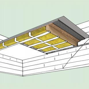 Mineralwolldämmstoffe eignen sich besonders gut zur Wärme- und Schalldämmung zwischen den Holzbalken von Geschossdecken.