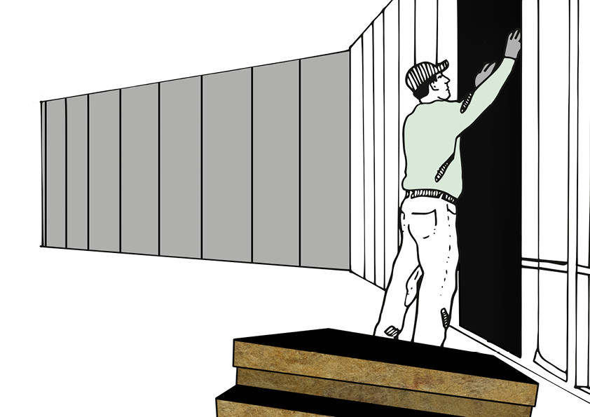 der d mmstoff d mmung der au enwand durch wdvs. Black Bedroom Furniture Sets. Home Design Ideas