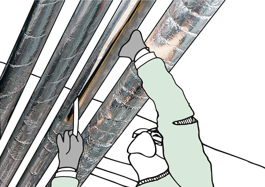 Die Dämmung von Rohrleitungen mithilfe von Mineralwolle kann bequem in Eigenleistung erfolgen.
