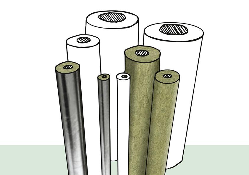 Um Wärmeverluste von Heizungs- und Warmwasserrohrleitungen zu begrenzen, schreibt die Energieeinsparverordnung (EnEV) eine Dämmung des Heizungs- bzw. Warmwassersystems vor. Optimalen Wärme- und zudem Schallschutz bieten Rohrschalen aus Mineralwolle.
