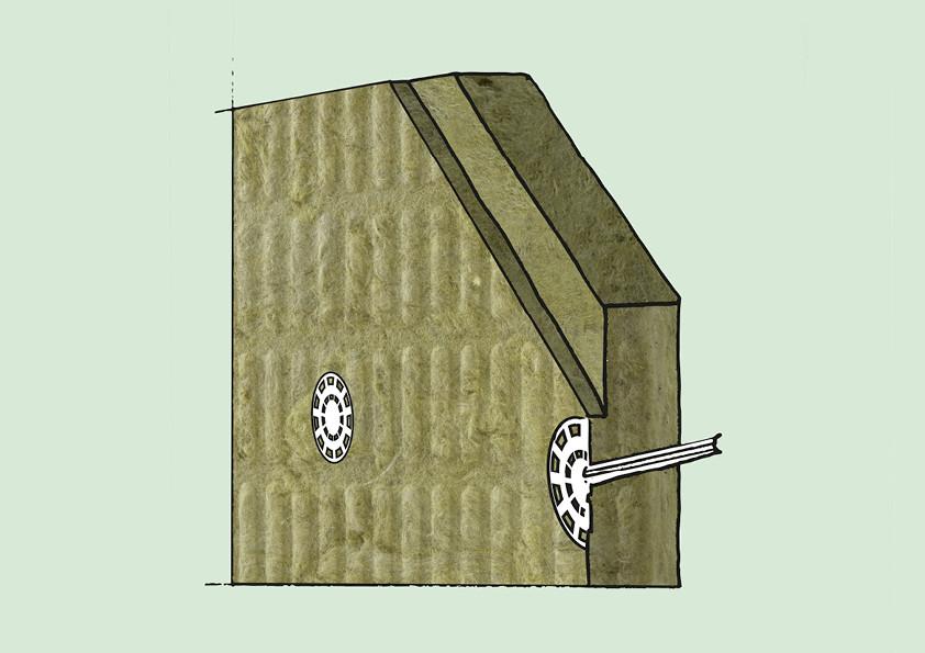 Dämmplatten aus Mineralwolle ermöglichen eine hervorragende Putzhaftung und eine einfachere Verdübelung und eignen sich deshalb sehr gut für den Einsatz in Wärmedämmverbundsystemen (WDVS).