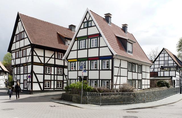Das mit Mineralwolle sanierte, denkmalgeschützte Fachwerkhaus in der Filzenstraße in Soest.