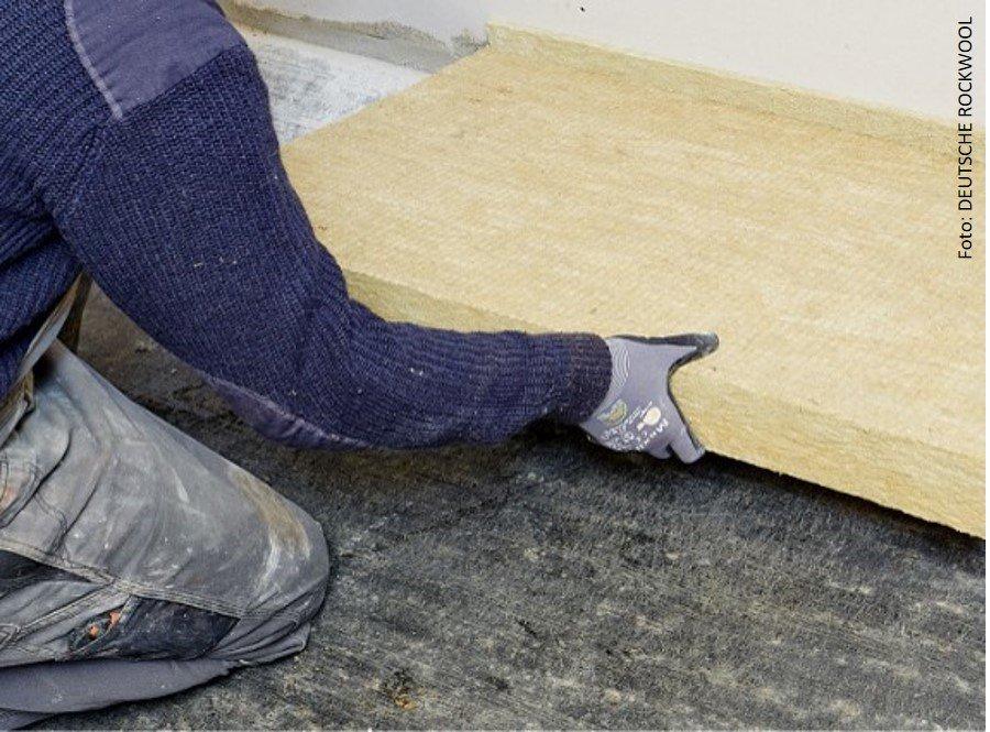 Fußbodendämmung mit Mineralwolle