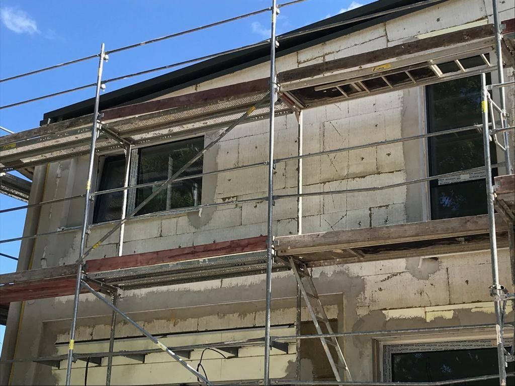 Ein mit Mineralwolle gedämmtes Einfamilienhaus. Foto: René Laun