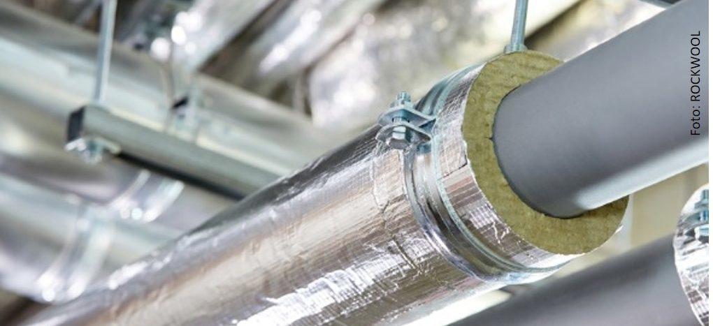 Leitungen mit Dämmschalen aus Mineralwolle dämmen
