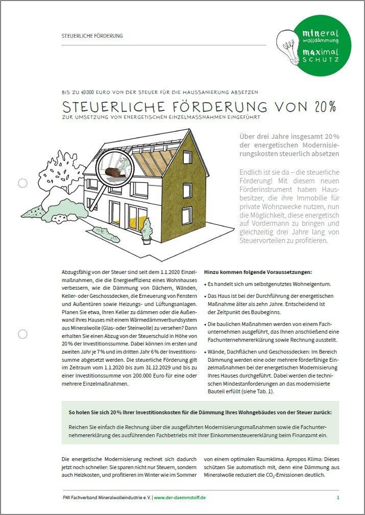 Whitepaper steuerliche Förderung von Einzelmaßnahmen bei der energetischen Gebäudesanierung