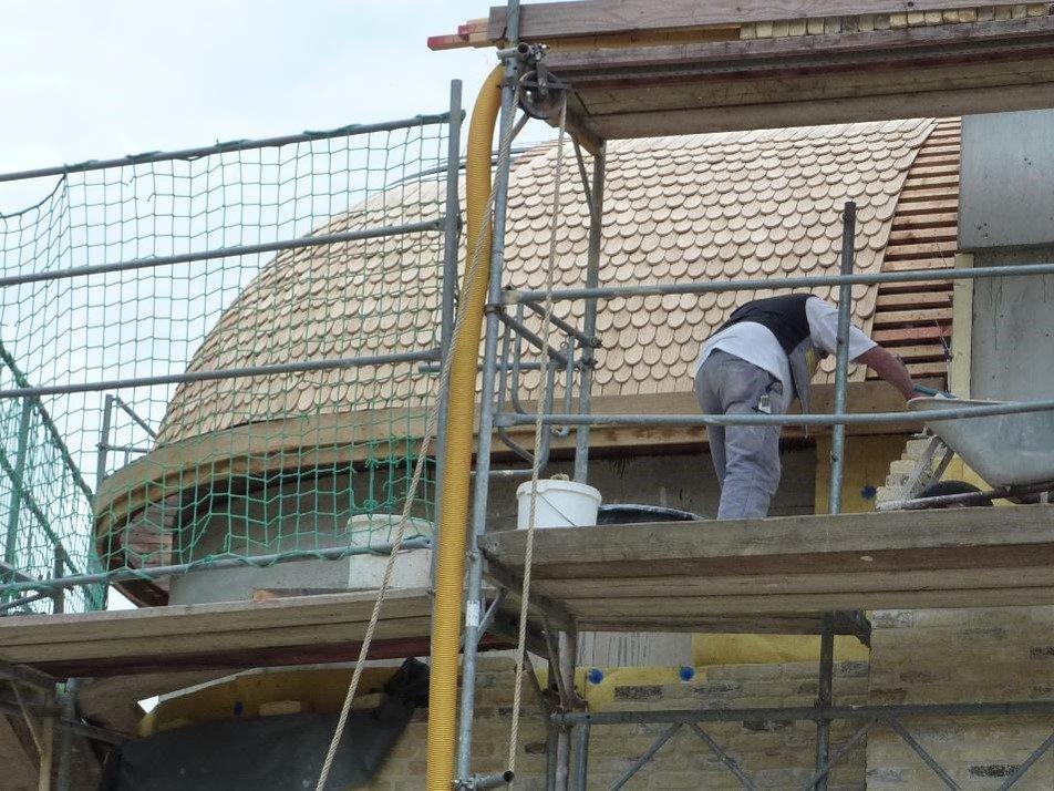 Kirche dämmen: Für die Dämmung der Klosterkirche in Götschendorf wurde Mineralwolle verwendet.