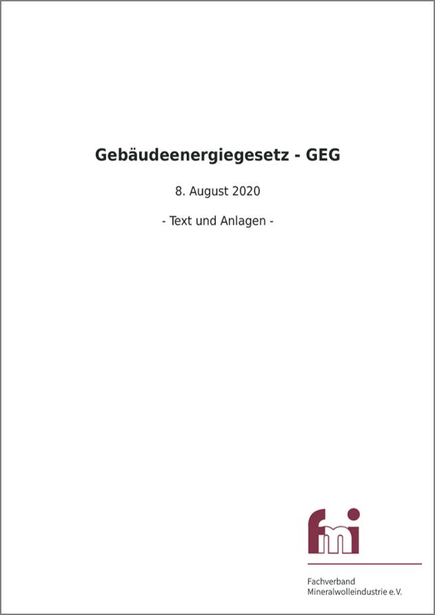 GEG Gebäudeenergiegesetz 2020