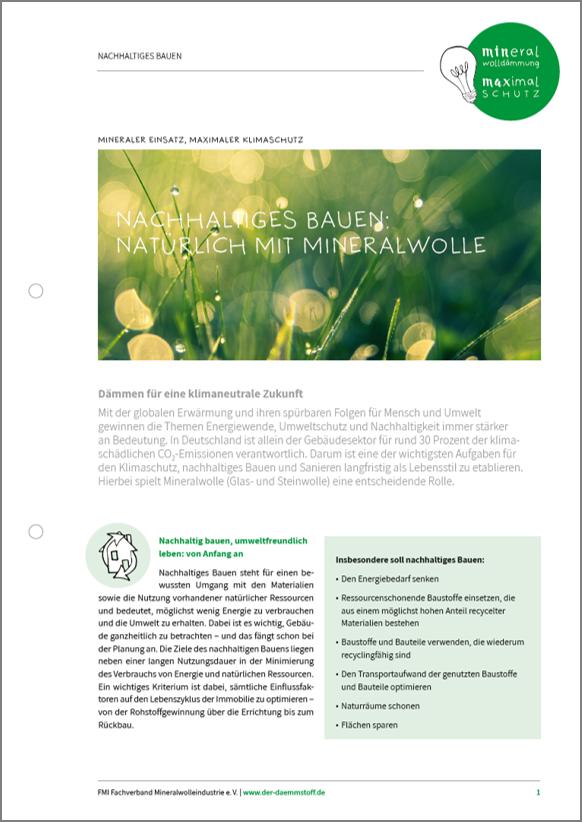 Whitepaper Nachhaltigkeit Seite 1 | Der Dämmstoff