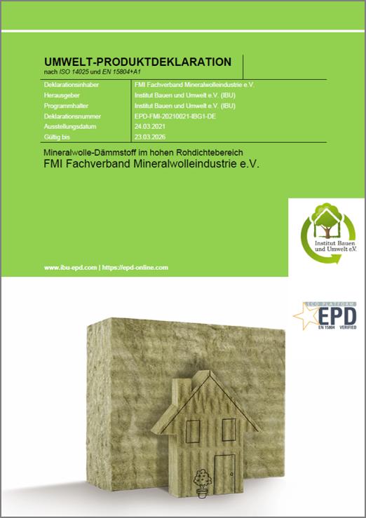 EPD niedrige Rohdichte Deckblatt | Der Daemmstoff
