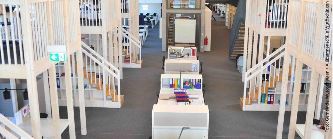 Lernatelier Arbeitsplaetze weisses Haus Gemeinde Wutöschingen_ Alemannenschule Wutöschingen   Der Daemmstoff